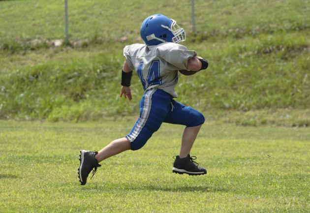 Youth Teen Football Player Touchdown