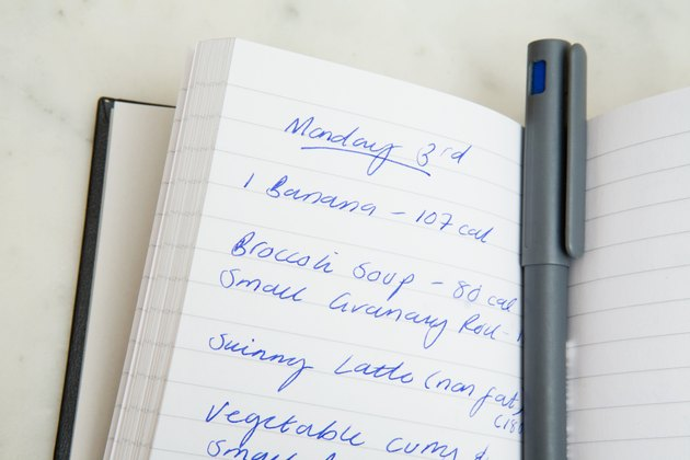 Food diary and pen