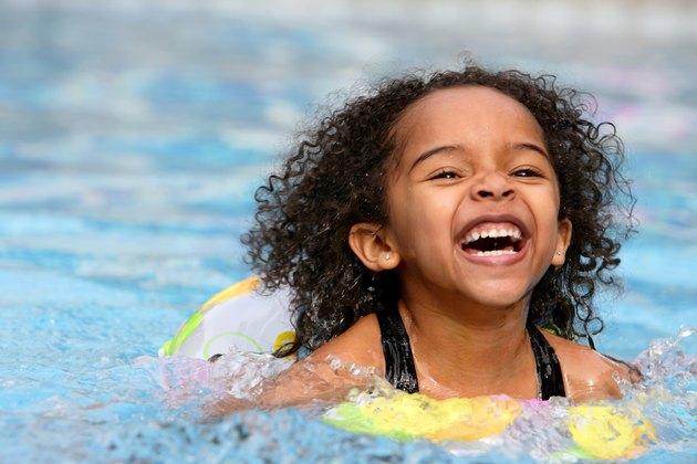 Happy Child Swimming