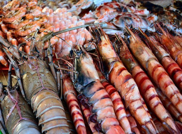 Grilled seafood in Kota Kinabalu Night market