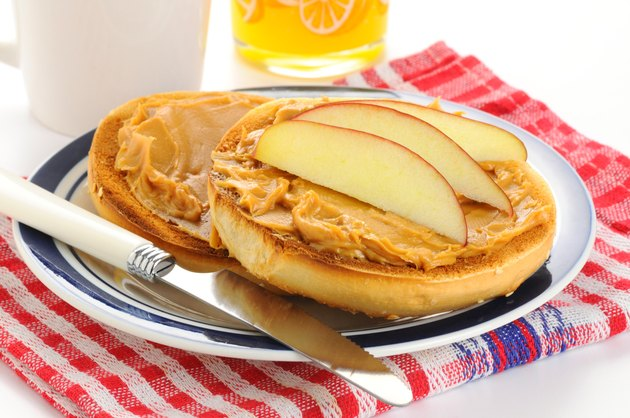 Bagel Peanut Butter and Apple