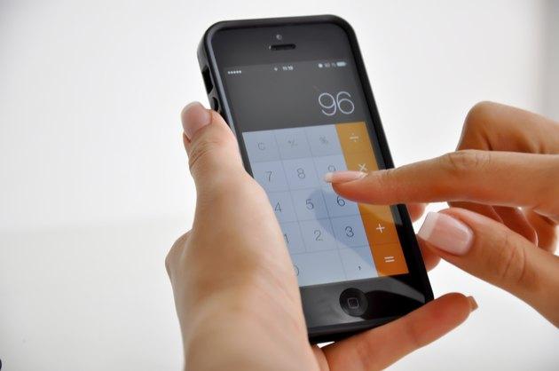 using smartphone calculator