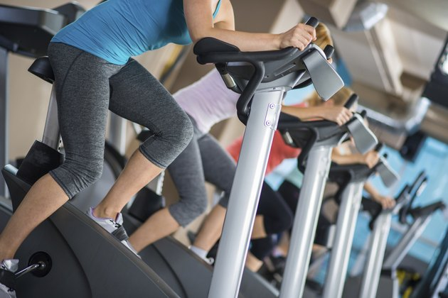 Women Using Exercise Machines