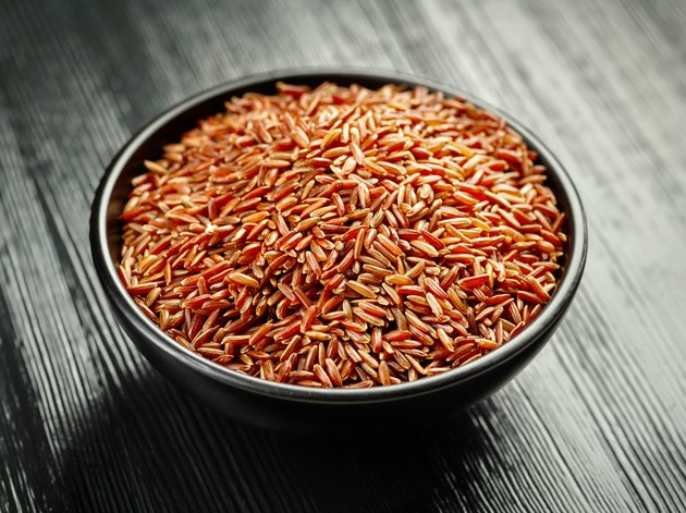 bowl of red rice