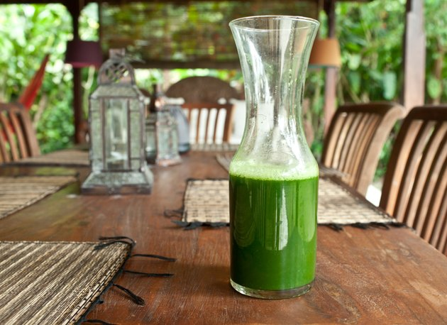 Green fresh juice. Raw food