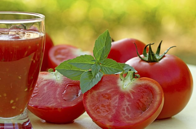 Squeezed by hand tomato juice