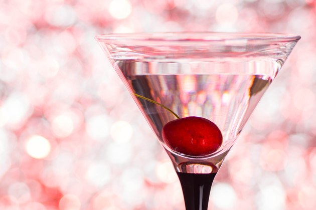Cocktail in martini glass