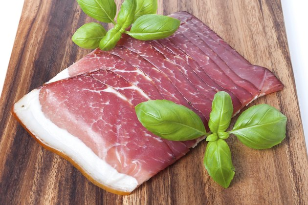 Pressed Meat with basil