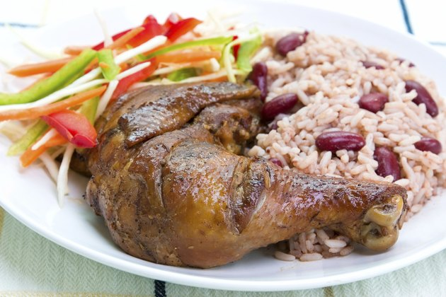 Jerk Chicken with Rice - Caribbean Style