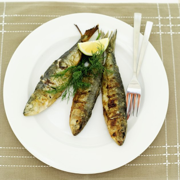 A plate of grilled fish