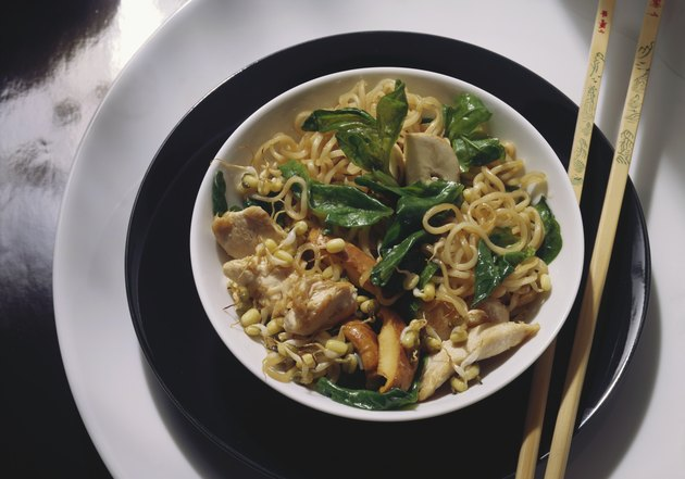 Fried Noodles with Vegetables & Meat