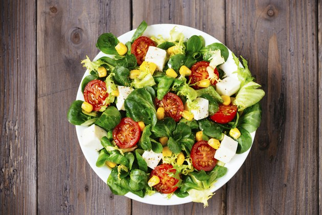 Delicius dieting healthy green salad