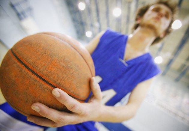 Closeup of a basketball