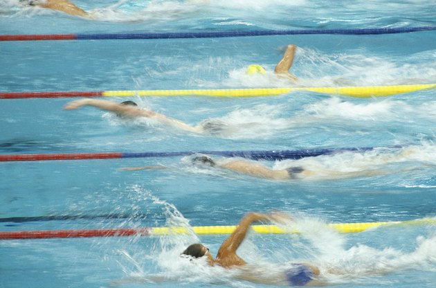 Seoul Olympics, swimmers swimming in pool