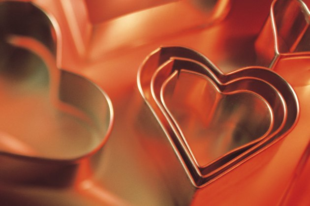 Heart-shaped cookie cutters