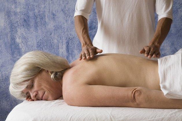 Senior woman getting massage