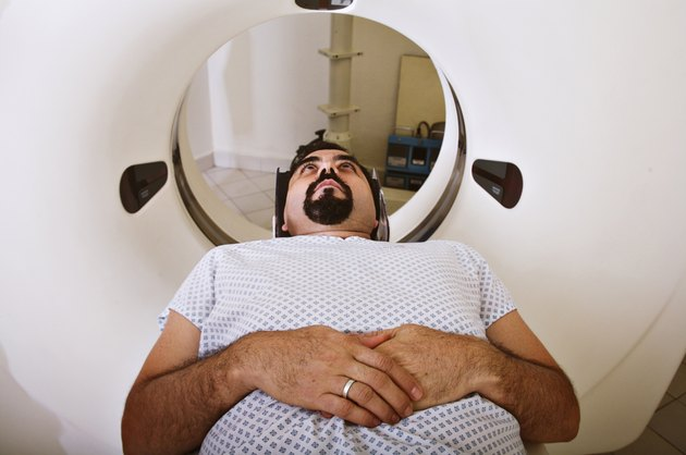 Patient getting an MRI scan