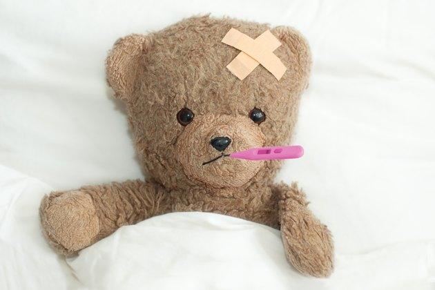teddy is sick