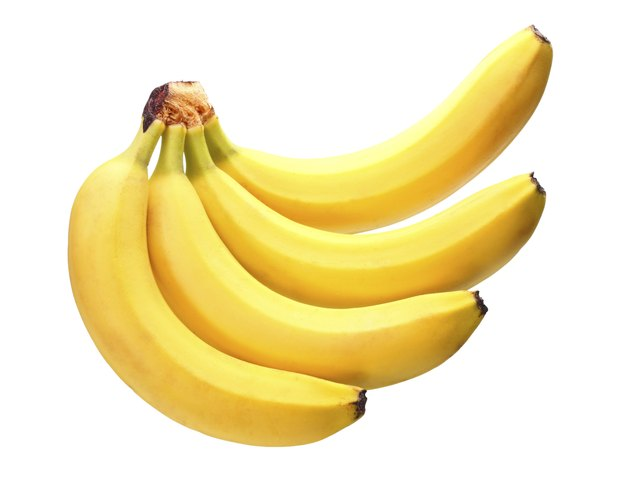 Bunch of yellow bananas. Isolated on white background