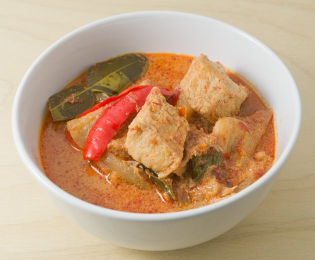 Red Curry with Coconut Milk and Vegetarian Ingredients