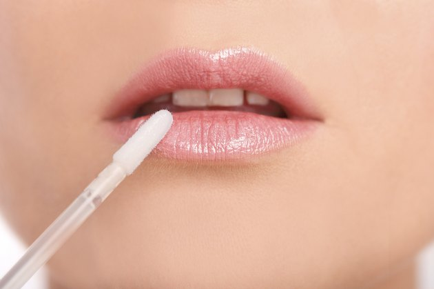 Lip gloss close-up