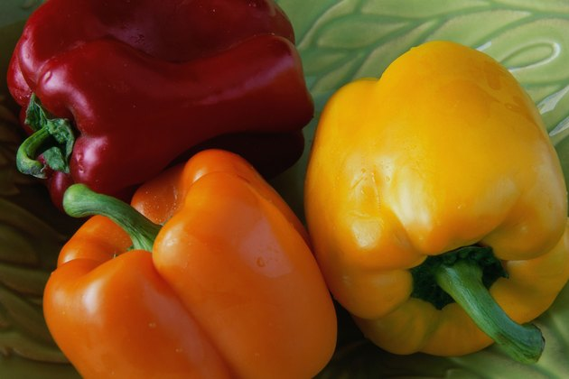 Close-up of assorted bell peppers