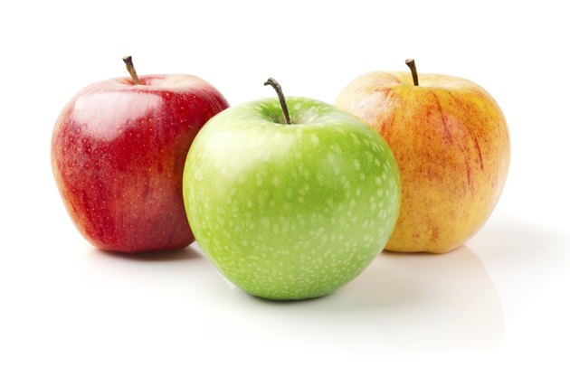 Green, Yellow and Red Apples