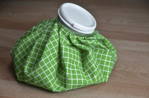 green ice bag on table