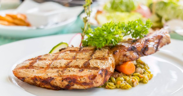 pork chop on white dish