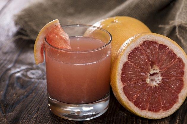 Fresh made Grapefruit Juice