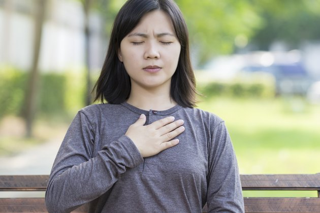 Woman: Chest pain at Park