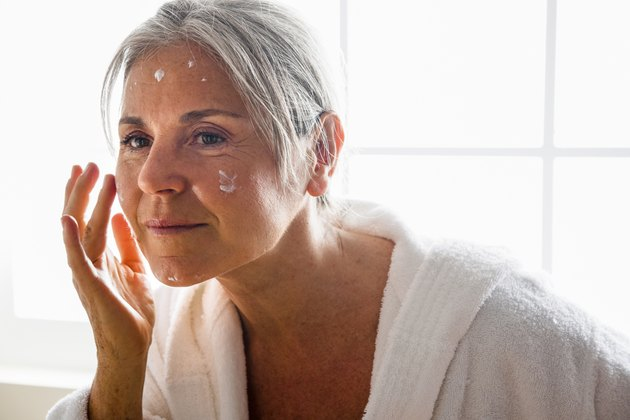 Senior Woman And Body Care