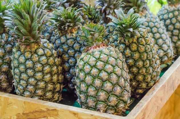 Fresh pineapples at Taiwan fresh fruit market