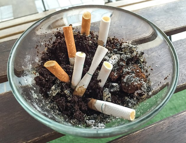 ashtray on the table