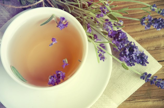 Healthy and delicious lavender tea