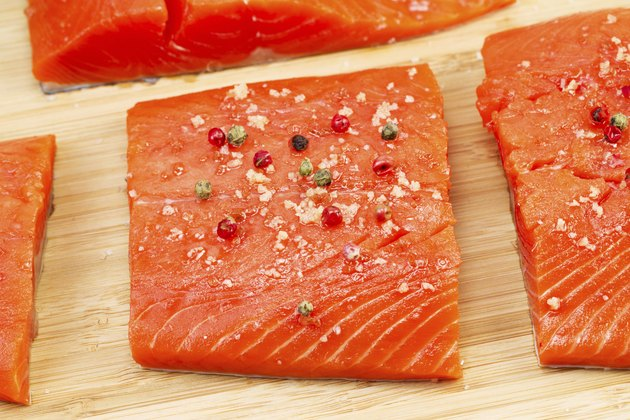 Wild Salmon coated with Sea Salt and Peppercorn