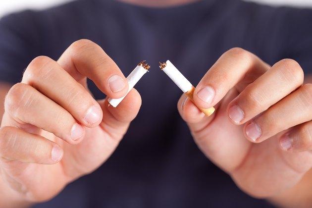 Cigarette broken