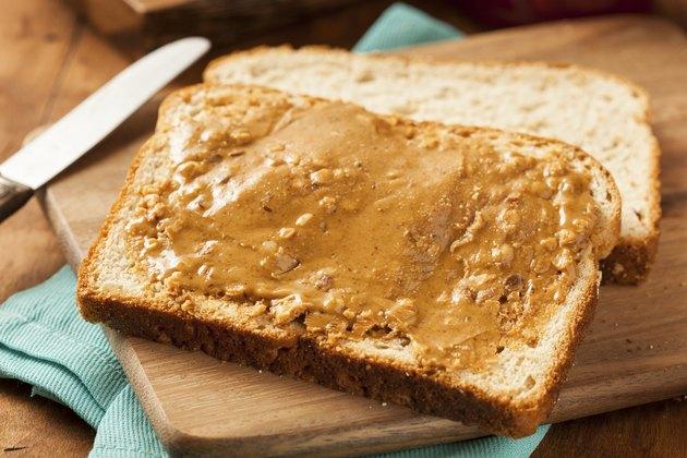Homemade Chunky Peanut Butter Sandwich