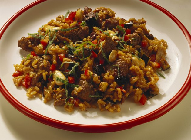 Meat and rice dish