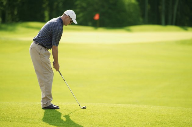 Chipping onto the green