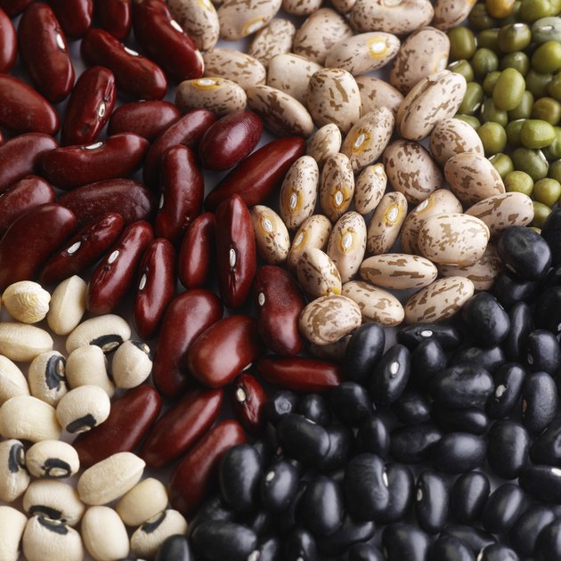 Assortment of dried beans and peas
