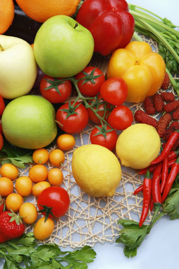 Composition of vegetables and fruits