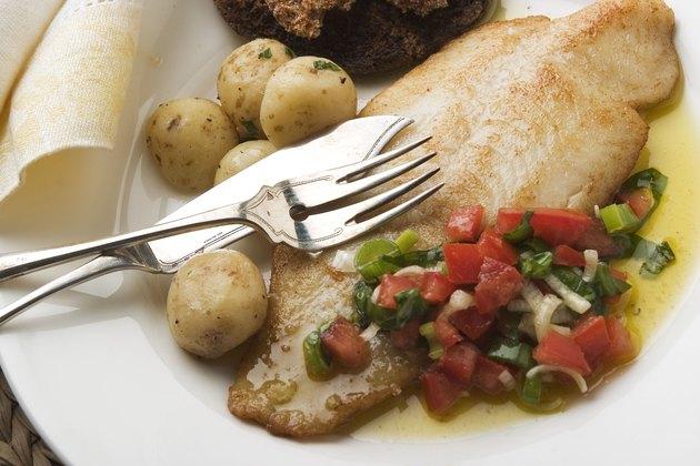Tasty fish dinner