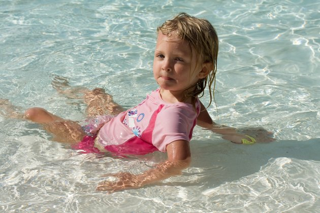 Toddler Girl Swimming
