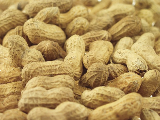 Close-up of a pile of peanuts