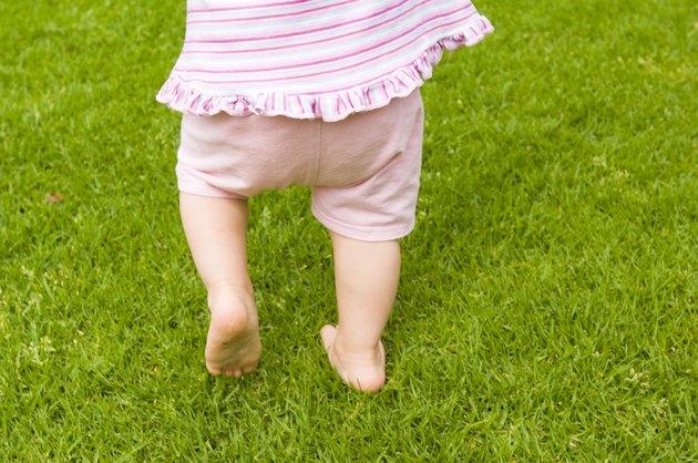 Girl walking outdoors