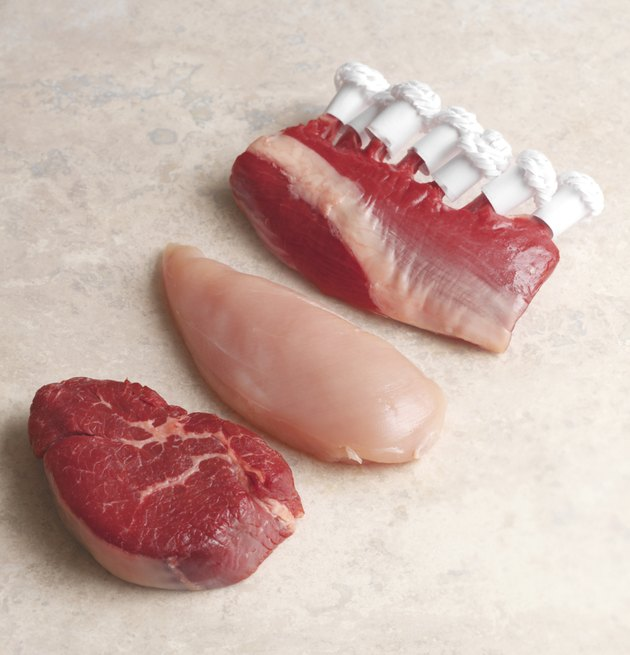 Raw poultry and red meat