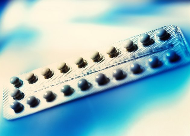 close-up of a strip of pills