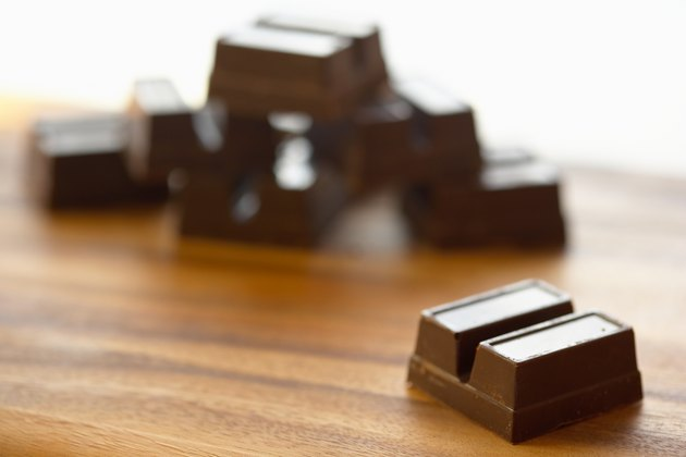 Chunks of bakers chocolate