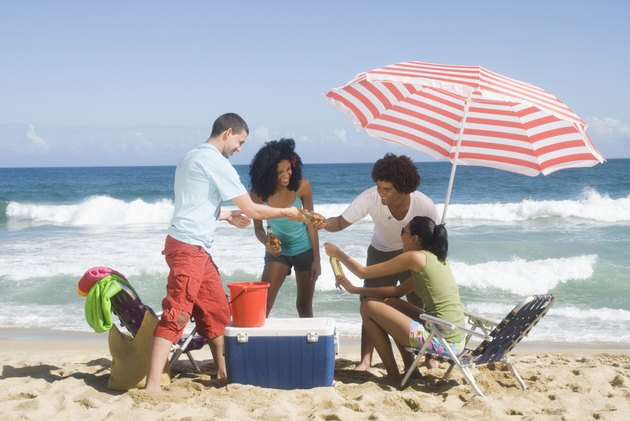 Multi-ethnic friends enjoying the beach